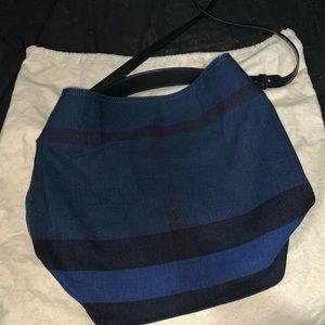 Burberry medium Ashby blue purse